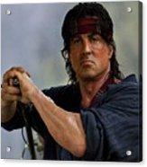 Rambo Sylvester Stallone Acrylic Print