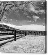 Ranch In Winter Acrylic Print