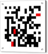 Random Digital Art Black White and Red 3 Acrylic Print