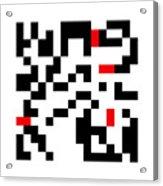 Random Digital Art Black White and Red 7 Acrylic Print