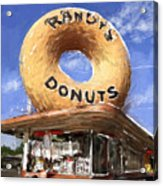 Randy's Donuts Acrylic Print by Russell Pierce