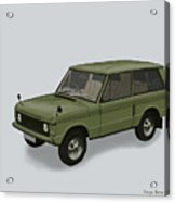 Range Rover Classical 1970 Acrylic Print by TortureLord Art
