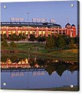 Rangers Ballpark In Arlington At Dusk Acrylic Print