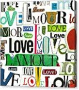 Ransom Art - Love Acrylic Print