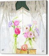 Ranunculus In Window Acrylic Print