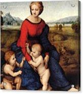 Raphael Madonna Of Belvedere  Madonna Del Prato  Acrylic Print