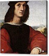 Raphael Portrait Of Agnolo Doni Acrylic Print