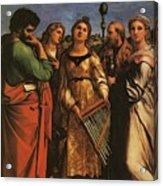 Raphael St Cecilia With Sts Paul John Evangelists Augustine And Mary Magdalene Acrylic Print