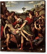 Raphael The Entombment Acrylic Print