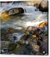 Rapids And Boulders Acrylic Print
