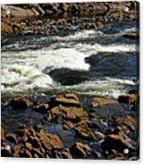 Rapids And Rocks Acrylic Print