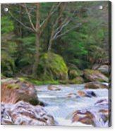 Rapids At The Rivers Bend Acrylic Print