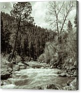 Rapids During Spring Flow On The South Platte River Acrylic Print