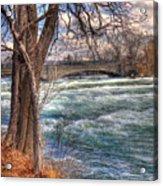 Rapids In Fall Acrylic Print