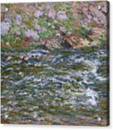 Rapids On The Petite Creuse At Fresselines, 1889 Acrylic Print