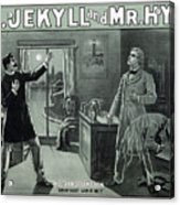 Rare Dr. Jekyll And Mr. Hyde Transformation Poster Acrylic Print