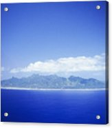 Rarotonga Aerial Acrylic Print