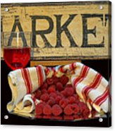 Raspberries At The Market Acrylic Print
