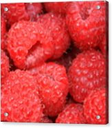 Raspberries Close-up Acrylic Print