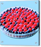 Raspberry And Blueberry Tart Acrylic Print