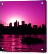 Raspberry Ice In Silhouette Acrylic Print
