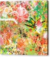 Rasta Flowers Acrylic Print