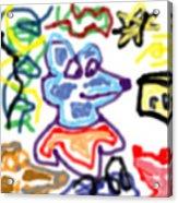 Rat Doodle Acrylic Print
