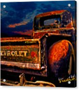 Rat Rod Chevy Truck Acrylic Print
