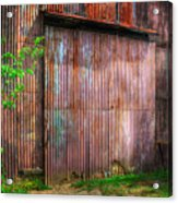 Rats Castle Farm Barn Door Acrylic Print