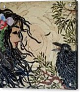 Raven Beauties Acrylic Print