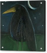 Raven By Moonlight No. 2 Acrylic Print