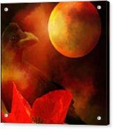 Raven Moon And Poppy 2 Acrylic Print