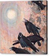 Raven Party Acrylic Print