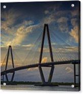 Ravenel Bridge Sunset Acrylic Print