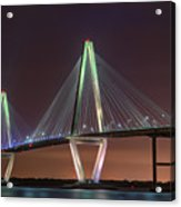Ravenel Bridge Twilight Acrylic Print