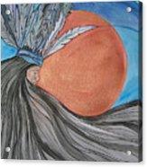 Raven's Hair Acrylic Print