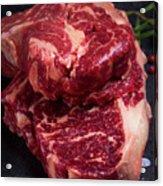 Raw Beef Steak Acrylic Print