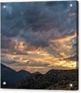 Rays Above Tecate Peak Acrylic Print