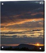 Rays At Sunset Acrylic Print