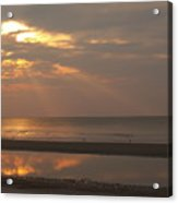 Rays Of Dawn At Hunting Island Acrylic Print