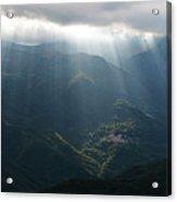 Rays Of Light In The Clouds - Raggi Di Luce Tra Le Nuvole Dell'alta Via Dei Monti Liguri Acrylic Print