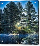 Rays Of Light On The Androscoggin River Acrylic Print