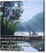 Rays Of Light - Place To Ponder Acrylic Print