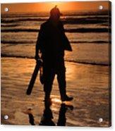 Razor Clam Hunter Acrylic Print