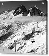 Reach The Sky Chamonix France Acrylic Print