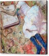 Reader Lying Down Acrylic Print