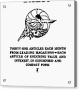 Readers Digest, 1922 Acrylic Print