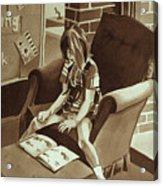 Reading Corner Acrylic Print