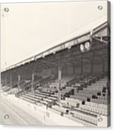 Reading - Elm Park - Norfolk Road Stand 2 - Bw - 1970 Acrylic Print