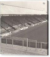 Reading - Elm Park - Norfolk Road Stand 3 - Bw - 1970 Acrylic Print